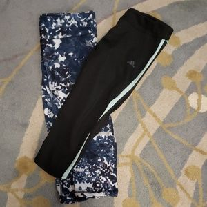 Adidas workout gym running yoga mid leg pants